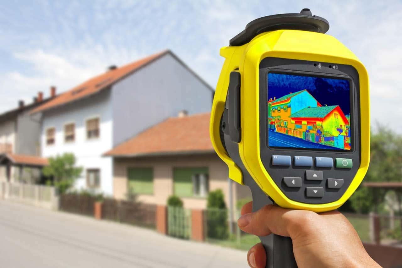 Gebäudethermografie diente der Identifikation von energetischen Schwachstellen in der Gebäudehülle